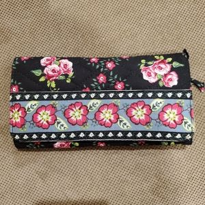 Quilted cloth Rose Flower wallet